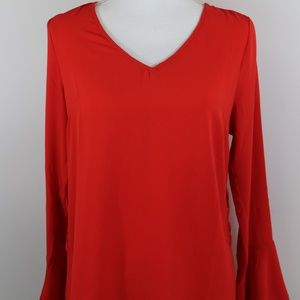 Stitch Fix Skies are Blue NEW Red Bell Sleeve Top